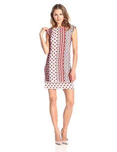 Donna Morgan Women's Cap Sleeve Stripe Shift Dress, Red/Multi, 12 Donna Morgan http://smile.amazon.com/dp/B00QVCQEUQ/ref=cm_sw_r_pi_dp_avHfvb02BED33