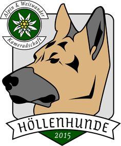 "Logo ""Alpin & Weitwanderkameradschaft - Höllenhunde"" | 2017 Scooby Doo, Graphics, Logo, Fictional Characters, Art, Pet Dogs, Art Background, Logos, Graphic Design"