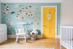 Home tour featuring the most beautiful toddler bedrooms and playroom you will ever see. With toys from notonthehighstreet and statement map wallpaper.