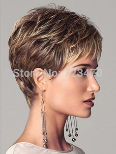 Aliexpress.com : Buy New Stylish Synthetic wigs Free shipping Pixie cut wig Short curly hair Brown wig cap for women Glamorous Fashion Hot sale from Reliable cap cotton suppliers on guangqiong yang's store | Alibaba Group