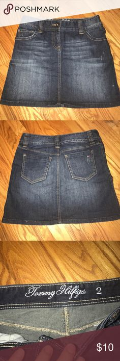 Tommy Hilfiger Jean Skirt Like new! Size 2 Jean skirt with lots of stretch. You're gonna love it! Make an offer, bundle and save! Tommy Hilfiger Skirts Mini
