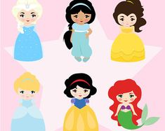 Princess - Instant Download | Clipart, Scrapbook, Sticker, Cute, Princess PNG, 300DPI