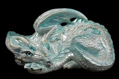 Blue Ice - Test Paint #1 - Windstone Editions 'Mother Dragon' sculpt