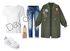 """""""Day off"""" by zaicute on Polyvore featuring R13, WithChic, tarte and adidas"""