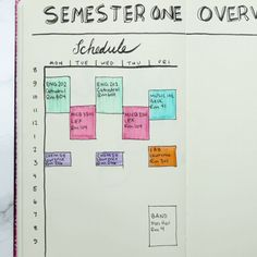 Bullet Journal For Students--this is great if you are a student or need to block. Bullet Journal For Students--this is great if you are a student or need to block time out for work!