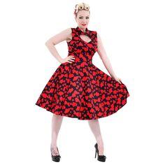 H&R Heart Dress (Black/Red)