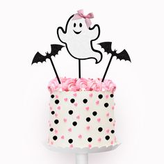 Pink Halloween, Halloween Inspo, Halloween Food For Party, Halloween Cakes, Halloween Birthday, Baby Birthday, Halloween Kids, First Birthday Parties, First Birthdays