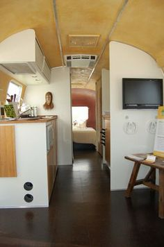 restored airstream camper