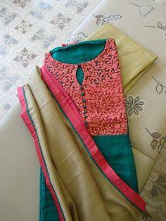 Elegant and pretty salwar kameez: Chudidhar Neck Designs, Neck Designs For Suits, Dress Neck Designs, Blouse Designs, Salwar Designs, Kurta Designs Women, Designer Salwar Kameez, Designer Sarees, Salwar Pattern