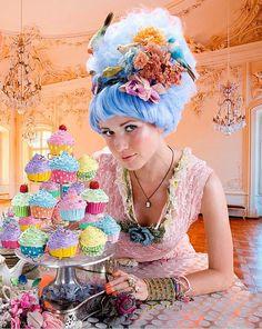 Marie Antoinette Fake Cupcakes for photography session por shimrita