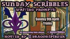 Sunday Scribbles Week A wizard takes a train in the year Writing Challenge, Scribble, Writing Prompts, Short Stories, Take That, Sunday, Shit Happens, Lava, Trains