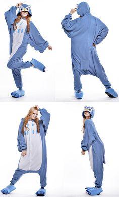 Unisex Adult  halloween  animeonesies  blueowl  cosplay Costume Pyjamas   kigurumi  onesies 112835640195f