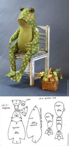 Frog sewing pattern.