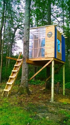 A tree house in MA designed and built by Derek Diedricksen