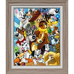 Disney ''A Dog's Life'' Giclée by Michelle St.Laurent | Disney Store''A Dog's Life'' Gicl�e by Michelle St.Laurent - Some of Disney's most famous pooches get together in the colorful ''A Dog's Life.'' Lady, Tramp, Pluto, Goofy, and dalmatian pups are among those featured in this limited edition gicl�e on canvas by Michelle St.Laurent.
