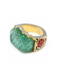 Maharana Ring by Amrita Singh at Gilt Jewelry Box, Jewelry Accessories, Fine Jewelry, Fashion Accessories, Jewlery, Bijou Box, Art Nouveau, Finger, Amrita Singh