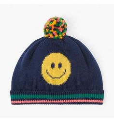 Baby Boy Navy Happy Face Beanie. Click to buy.  affiliatelink  ad  baby   boys  clothes  kids  fashion  outfit  cute  style  winter  boyclothes   tobuy ... 864a93271ebf