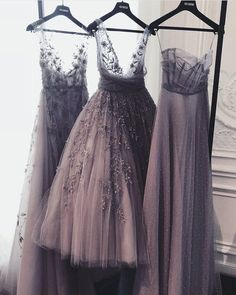 Paolo Sebastian dresses pic via twtitter aesthetic bridesmaid Tulle Bridesmaid Dress, Mismatched Bridesmaid Dresses, Tulle Dress, Prom Dresses, Formal Dresses, Wedding Dresses, Wedding Bridesmaids, Grey Prom Dress, Mauve Dress