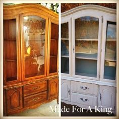 Painted hutch Before/After