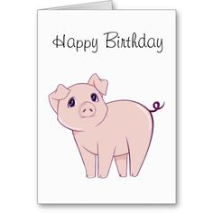 Cute Little Piggy Art Greeting Cards