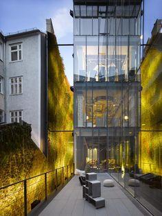 Nouvel-Tower, Praterstrasse 1, Vienna | Vertical Garden Patrick Blanc