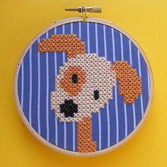 Charlie - a dog embroidery kit - Shiny Happy World
