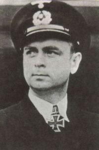 ✠ Gerhard Bigalk (26 November 1908 – 17 July 1942) U-751 was sunk with all hands by depth charges dropped by a Whitley bomber in the North Atlantic north-west of Cape Ortegal, Spain. RK 26.12.1941 Kapitänleutnant, Kdt. U-751