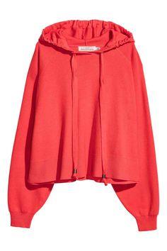 Pull à capuche - Rouge corail - FEMME | H&M FR