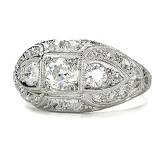 Dashing Diamond Dome Ring - The Three Graces