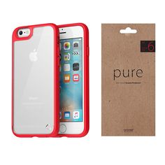 iPhone Case Screen Protector Araree Hue Plus Pure Red Package for Apple Apple Iphone 6s Plus, 6s Plus Case, Red Apple, Screen Protector, Hue, Packaging, Pure Products, Ebay, Wrapping
