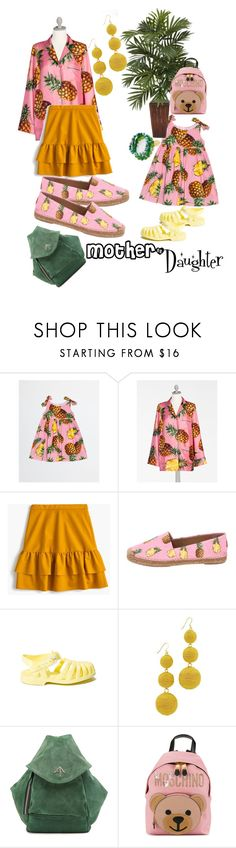 """""""Pineapple #pineapple #mother&daughter #mother #daughter #walking #syberia_set #set #contest"""" by margosedih ❤ liked on Polyvore featuring Dolce&Gabbana, J.Crew, Kenneth Jay Lane, MANU Atelier, Moschino and Good Charma"""