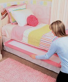 Pink Deluxe Extra-Long Hideaway Bed Rail