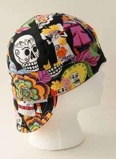 Day Of The Dead Celebration Welding Cap by JimmyCapsWeldingHats