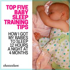 Top 5 Tips for Sleep Training Babies: How I Got My 4-Month-Old Babies to Sleep 12 Hours a Night
