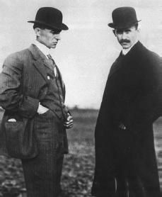 'I confess that in 1901 I said to my brother Orville that man would not fly for fifty years. Two years later we ourselves made flights. This demonstration of my impotence as a prophet gave me such a shock that ever since I have distrusted myself and avoided all predictions.' — Wilbur Wright, 1908   Wilbur Wright (left) and his brother Orville.