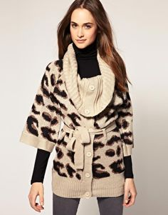 So obsessed with this! Warehouse Animal Chunky Cardigan from Asos.