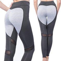 bf3905362dc Fashion Women's Yoga Pants Waistband Fitness Leggings Heart Shape Prin –  Valentafashion Mesh Yoga Pants,