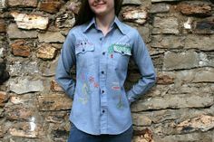 RARE Vintage 70s LEVIS Embroidered Denim by RubyChicBoutique, $74.00