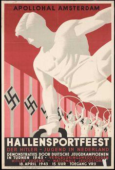1943 Hallensportfeest. De Hitler Jugend in Nederland