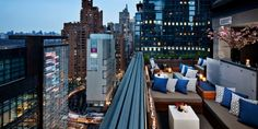 The clubby rooftop lounge is open year-round. NY city #Jetsetter