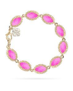 Jana Bracelet - Customizable at the Color Bar™ by Kendra Scott. Nail Jewelry, Cute Jewelry, Jewelry Box, Jewelery, Jewelry Accessories, Link Bracelets, Jewelry Bracelets, Design Your Own Jewelry, Kendra Scott Jewelry