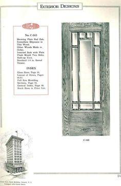 Exterior door 1923 (Crook's Veneered Doors)