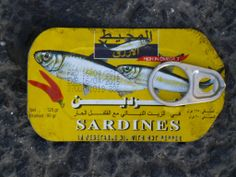 Sardine tin spotted on the road near Rainbow Street, Amman. I love that someone thought to take a photo of this!