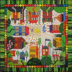 Pedestrian Friendly by Pat Dicker. This is Pat's version of Sue Garman's All Around the Town pattern.