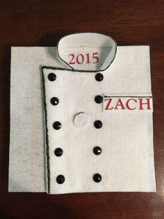 Culinary School Graduation Cap - Chef Jacket