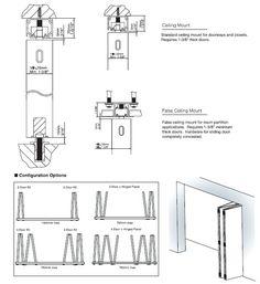 Folding Door Hardware | SDR-A84D TOP RECESSED LOW HEADROOM SLIDING FOLDING DOOR HARDWARE