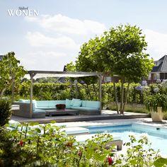 stijlvol wonen de rooy hoveniers fotografie sarah van hove, dorien ceulemans, jonah samyn  #zwembad #loungehoek