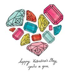 You're A Gem, Happy Valentines Day