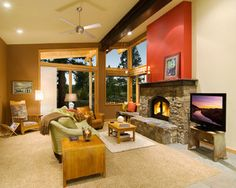 Great Room - contemporary - living room - sacramento - by Ward-Young Architecture & Planning - Truckee, CA