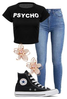 """Untitled #659"" by carenza-spence on Polyvore featuring Converse and NAKAMOL"